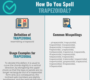 Correct spelling for trapezoidal