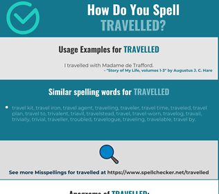 Correct spelling for travelled