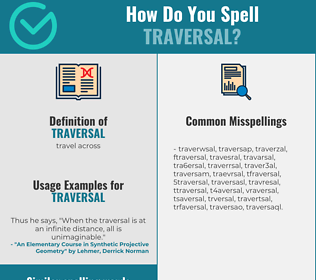 Correct spelling for traversal