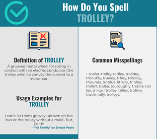 Correct spelling for trolley