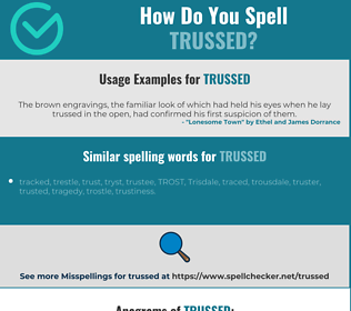 Correct spelling for trussed