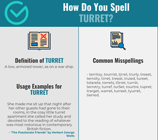 Correct spelling for turret