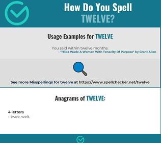 Correct spelling for twelve