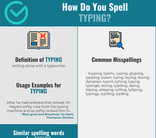 Correct spelling for typing
