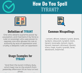 Correct spelling for tyrant