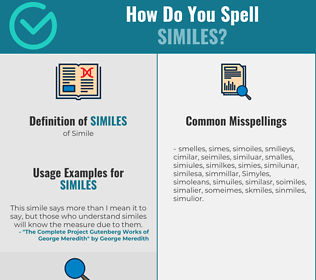 Correct spelling for Similes