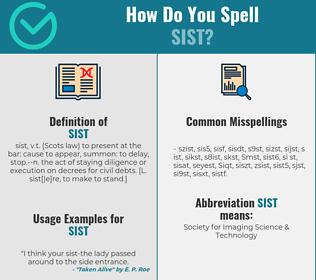 Correct spelling for Sist