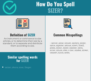 Correct spelling for Sizer