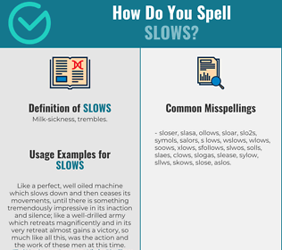Correct spelling for Slows