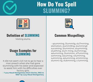 Correct spelling for Slumming