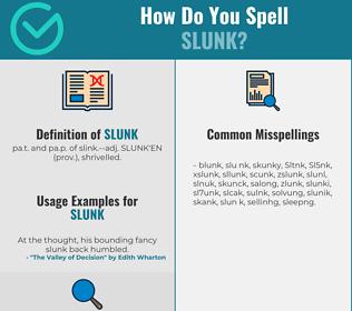 Correct spelling for Slunk