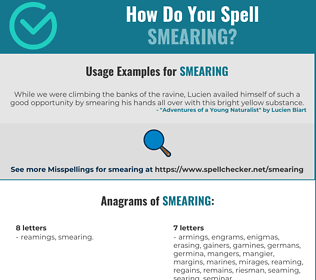 Correct spelling for Smearing