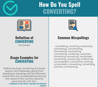 Correct spelling for Converting