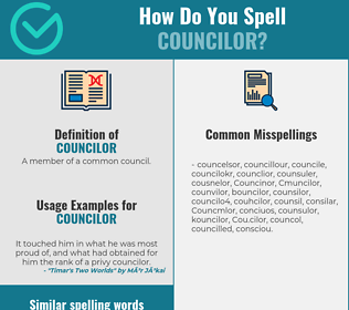 Correct spelling for Councilor