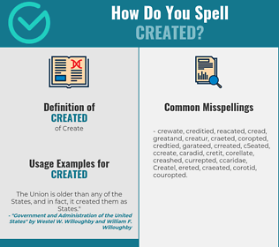 Correct spelling for Created