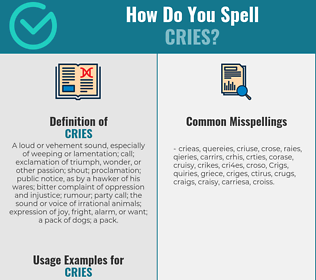 Correct spelling for Cries
