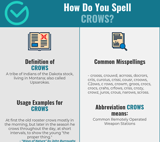 Correct spelling for Crows