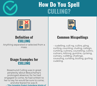 Correct spelling for Culling