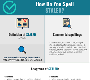 Correct spelling for Staled
