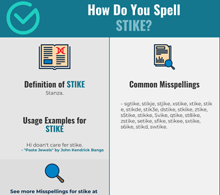 Correct spelling for Stike