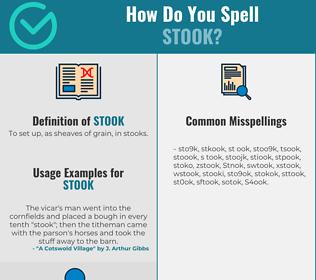 Correct spelling for Stook