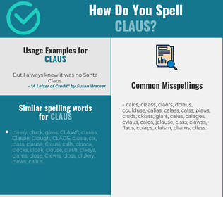 Correct spelling for Claus