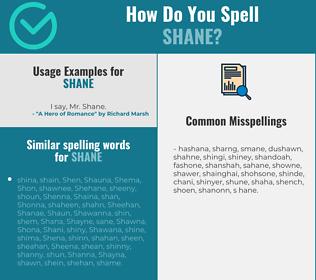 Correct spelling for Shane