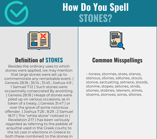 Correct spelling for Stones