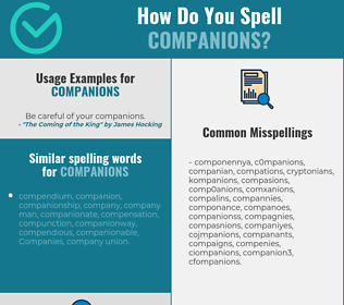 Correct spelling for companions