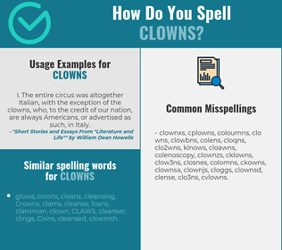 Correct spelling for clowns