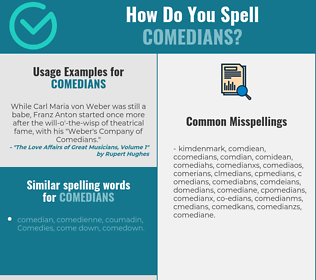 Correct spelling for comedians