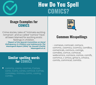 Correct spelling for comics