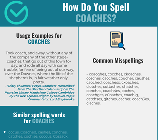 Correct spelling for coaches