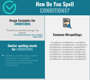 Correct spelling for conditions