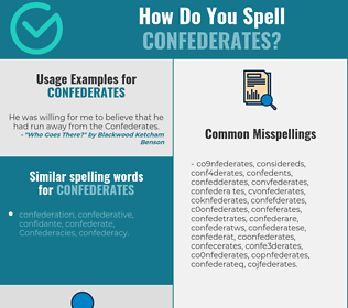 Correct spelling for confederates
