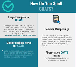 Correct spelling for coats