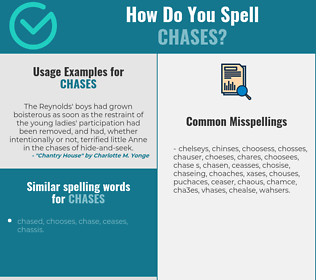 Correct spelling for chases