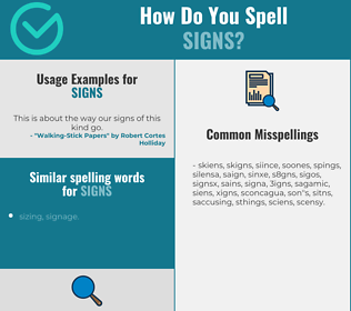Correct spelling for signs