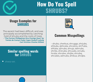 Correct spelling for shrubs