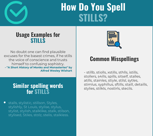 Correct spelling for stills