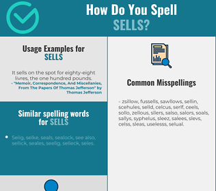 Correct spelling for sells