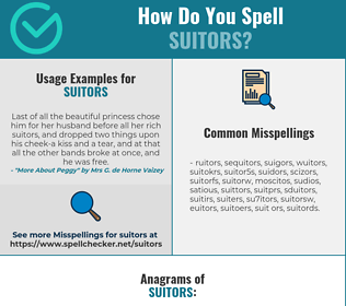 Correct spelling for suitors