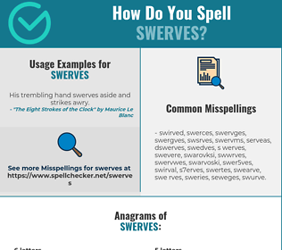 Correct spelling for swerves