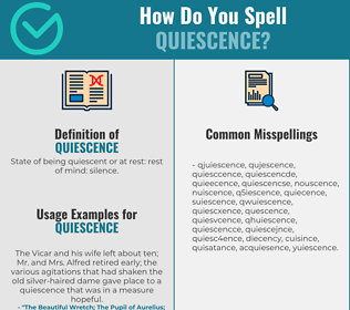 Correct spelling for quiescence