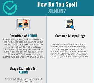 Correct spelling for xenon