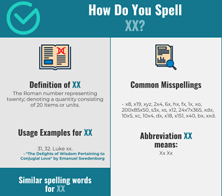 Correct spelling for xx
