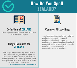 Correct spelling for zealand