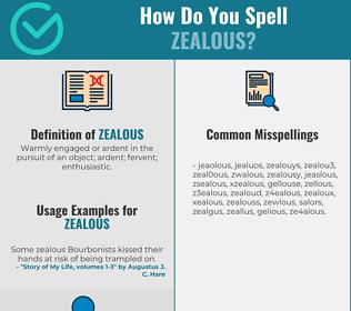 Correct spelling for zealous