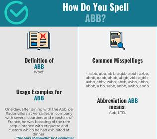 Correct spelling for Abb