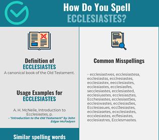 Correct spelling for Ecclesiastes